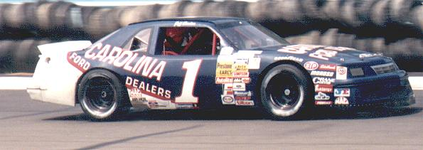 Driving the Carolina Ford Dealers car at Watkins Glen in 1991 in BGN