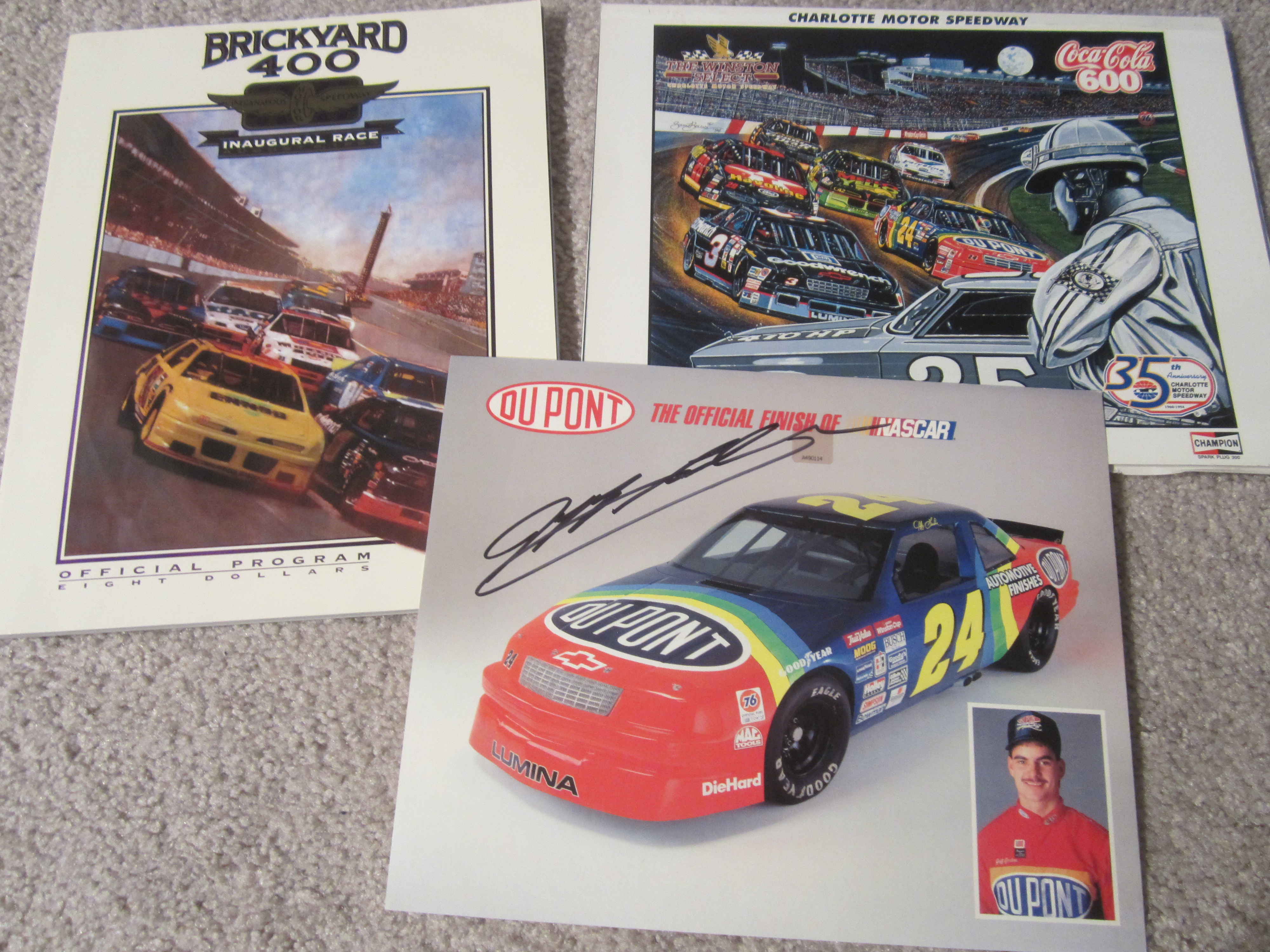Paint schemes coca cola 600 free download image about all car type - Autographed 1993 Hero Card 1994 Coca Cola 600 And 1994 Brickyard 400 Programs