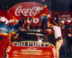 Jeff's first Winston Cup victory